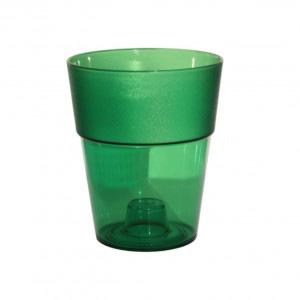 кашпо круг зеленый