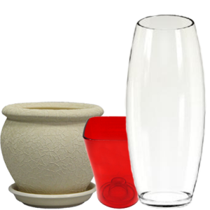 Горщики, кашпо, вази