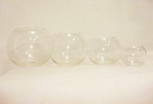 ваза шар 16×20см 260грн; Ваза шар 13×16 см 176грн; ваза шар 12×12см 94грн; Ваза шар 8×8см